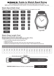 Top 7 Watch Band Size Charts Free To Download In Pdf Format