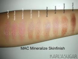 Mac Mineralize Skinfinish Color Chart Mac Mineralize Skinfinish Msf Swatches Light Flush