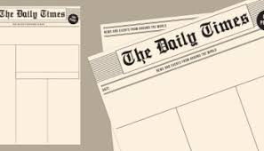 Old Newspaper Article Template Blank Newspaper Templates Paperzip