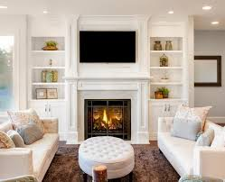 custom fireplace surrounds floor to ceiling white fireplace with bookcases