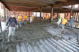 pouring cement floor