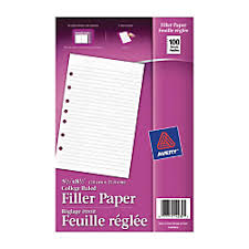 2in Binder Avery 7 Hole Punched Mini Binder Filler Paper 5 1 2in X 8 1 2in College Ruled Pack Of 100 Sheets One Source