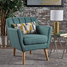 madelyn mid century modern fabric club chair dark teal