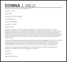 Resignation From A Job Career Change Resignation Letter Example Letter Samples Templates