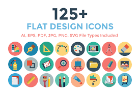 Google Flat Design Icons 125 Flat Design Icons Creative Stall