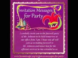 Sample Party Invite Best Invitation Messages Sample Party Invitation Text Message