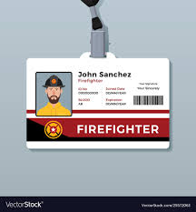 Firefighter Id Card Template