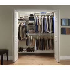 depot closet organizers closet kits home gray