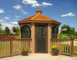 custom pool enclosure hexagon shape. This Screened Gazebo Is Built Off The Corner Of Main Deck And Patio  Area Custom Pool Enclosure Hexagon Shape L