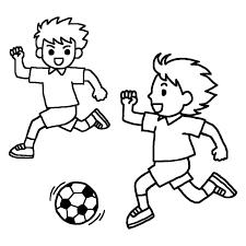 パス白黒サッカーの無料イラスト部活動クラブ活動運動部学校素材