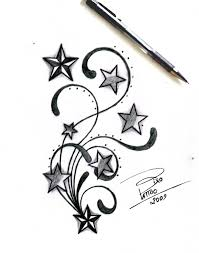 How To Draw A Star Design Free Drawings Of Star Tattoos Download Free Clip Art Free