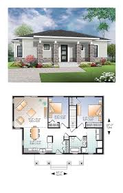 Contemporary Modern House Plan Plans Sims B E D Cd: Full Size ...