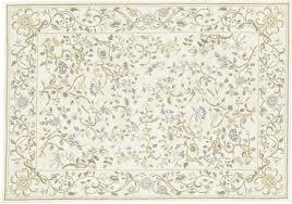 cream blue green fl needlepoint rug gradella 1201y