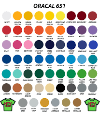 Oracal 651 Color Chart Oracal 651 12x12 Every Color Pack