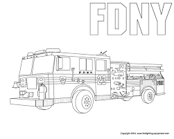 Fire Truck Coloring Pages Getcoloringpagescom