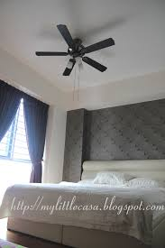 the design and colour of the fan match the design of my bedroom very well