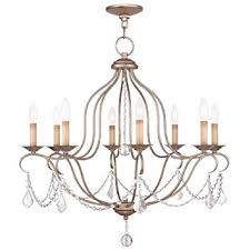 get ations livex lighting 6427 73 chesterfield 8 light chandelier hand painted antique silver leaf
