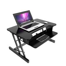 height adjule standing desk moveable folding lift computer desk w retractable keyboard tray