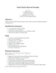 Cashier Resume Examples Top Rated Head Cashier Resume Cashier Sample