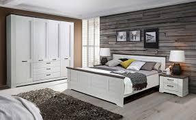 Schlafzimmer Set Komplett 4 Teilig Schneeiche Pinie Grau Neu