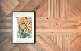 building a graphic wood accent wall