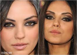 eyeshadow for hazel eyes mila kunis