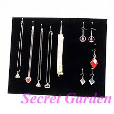Necklace Display Stands Wholesale Wholesale Black Velvet Necklace Earring Bracelet Jewellery Display 28
