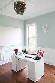 paint color for office. benjamin moore palladian blue my favorite wall color! via bower power paint color for office