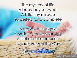Congratulate On New Baby Congratulations For Baby Boy Poems For Newborn Baby Boy