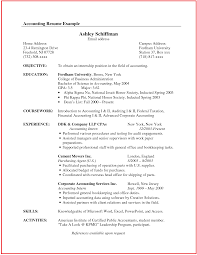 Resume Format For An Accountant Free Resume Example And Writing
