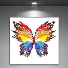 Small Picture handmade abstract butterfly picture home decor oil painting on