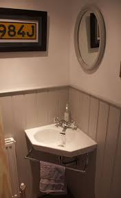 corner sink bathroom. under the stairs wc with grey tongue and groove adorable little corner sink bathroom c