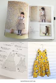 Apron Dress Pattern Delectable Retro Panda Print Kids Apron Dress Sewing Pattern Review Sew In Love