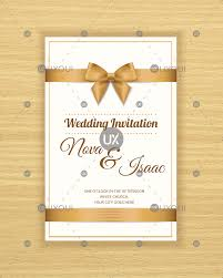 Free Retro Wedding Invitation Card Template Design Vector With A Ribbon