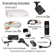 q see 4 channel 720p 1tb surveillance system and 2 hd bullet q see 4 channel 720p 1tb surveillance system and 2 hd bullet cameras 100 ft night vision qth41 2z3 1 the home depot