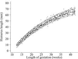 Fetal Humerus Length Chart Charts Of Fetal Size Limb Bones Chitty 2002 Bjog An