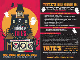 halloween sale flyer tate s comics inc halloween sale haunting of tate s theme
