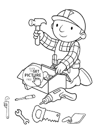 Small Picture tools coloring pages for kids printable free Bob the builder