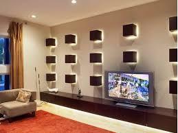 proper lighting. Living Room, Modern Wall Sconces And Ceiling Recessed Lights For Room Lighting Design: Proper P