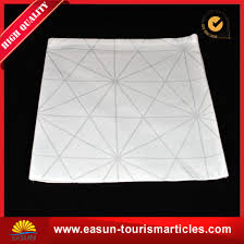 white wedding linen printed disposable tablecloth for in flight