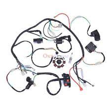 gy wiring harness complete electrics atv quad 200 250cc wiring harness cdi 3 holes