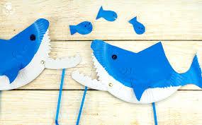 biting paper plate shark puppet fun family crafts biting paper plate shark puppet