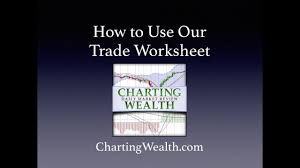 Charting Wealth Com How To Use Our Trade Worksheet