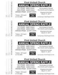 Large Raffle Ticket Template 2 4 Up Fundraiser Pinterest