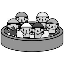かわいい夏休みのプールの無料イラスト商用フリー オイデ43