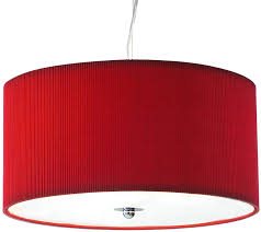 dar zaragoza small modern 3 light pendant 40cm red drum