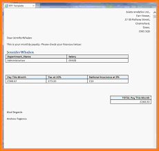 Payslip Sample Template 24 Simple Payslip Format Salary Confirmation 9