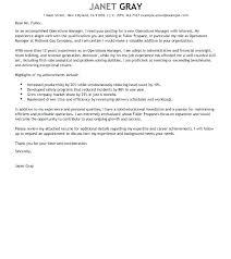 Cover Letter Management Sample Restaurant Management Cover Letter