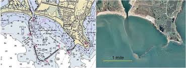 Noaa Nautical Charts And Google Earth Image Of Point Judith