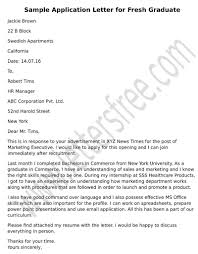 Tips To Write A Formal Application Letter As Fresh Graduate For